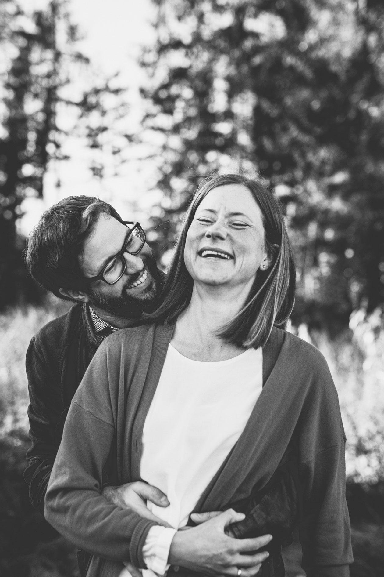 Familie Outdoor im Herbst Paarbildermit der Lichtzeichnerin Simone Lerner
